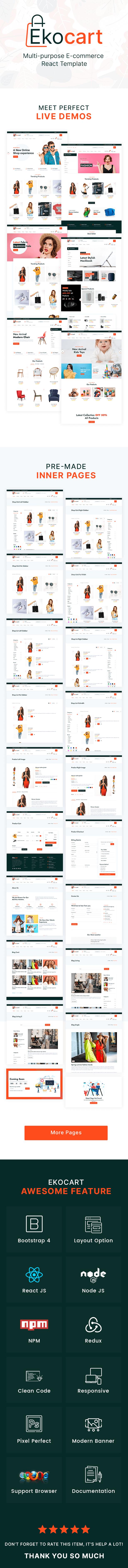 Ekocart- Multi-purpose E-commerce React Template - 1